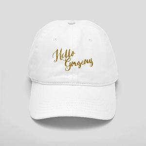 Hello Gorgeous Faux Gold Baseball Cap