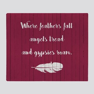 WHERE FEATHERS FALL... Throw Blanket
