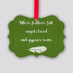 WHERE FEATHERS FALL... Ornament