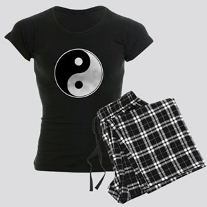 Yin Yang Symbol Women's Dark Pajamas