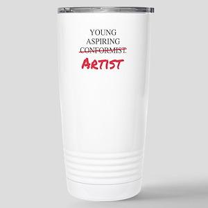 Young Aspiring Conformist Artist Travel Mug
