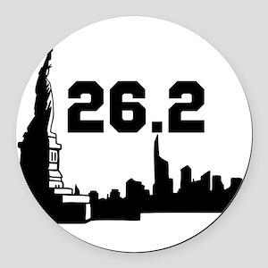 Marathon 26.2 Round Car Magnet