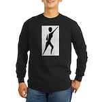 Jazz Dancer Long Sleeve Dark T-Shirt