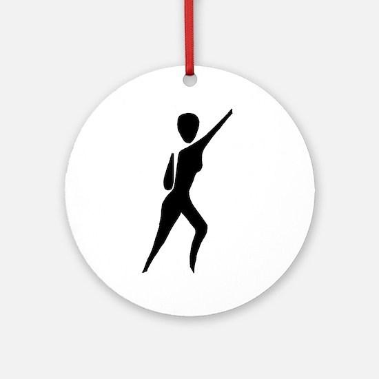 Jazz Dancer Ornament (Round)