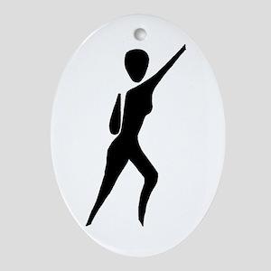Jazz Dancer Oval Ornament