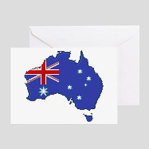 """Pixel Australia"" Greeting Card"