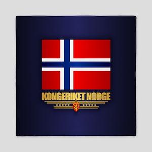 Flag of Norway Queen Duvet