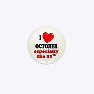 October 22nd Mini Button