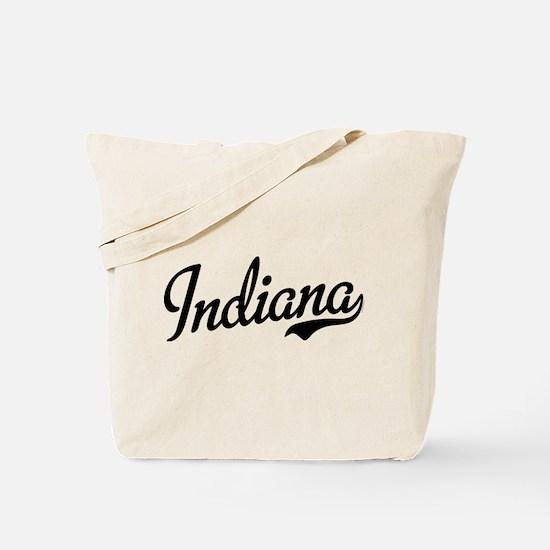 Indiana Script Black Tote Bag