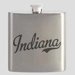 Indiana Script Black Flask