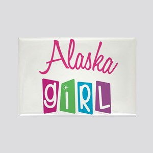 ALASKA GIRL! Rectangle Magnet (10 pack)