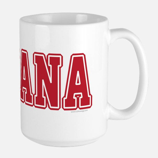 Indiana Jersey Red Large Mug