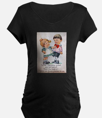 Never Kissed a Girl? Maternity T-Shirt
