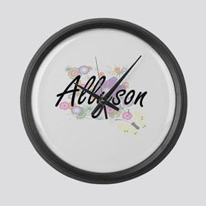 Allyson Artistic Name Design with Large Wall Clock