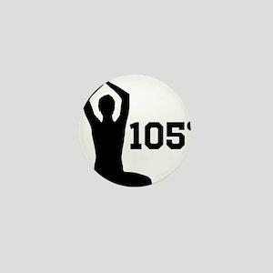 Hot Yoga Mini Button