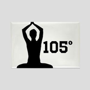 Hot Yoga Rectangle Magnet