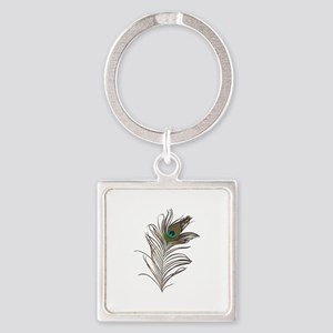 Peacock Feather Keychains