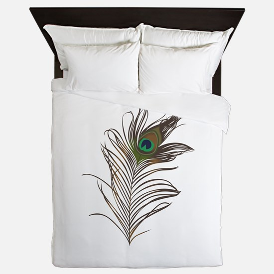 Peacock Feather Queen Duvet