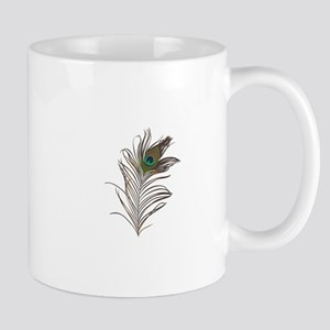 Peacock Feather Mugs