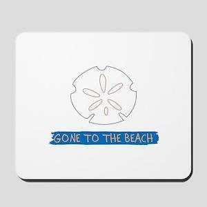 Gone To Beach Applique Mousepad