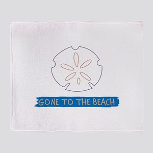 Gone To Beach Applique Throw Blanket