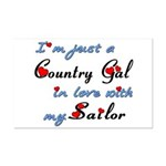 Country Gal Sailor Love Mini Poster Print