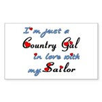 Country Gal Sailor Love Sticker (Rectangle)