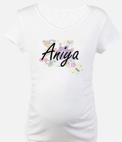 Aniya Artistic Name Design with Shirt