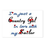 Country Gal Sailor Love Postcards (Package of 8)