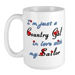 Country Gal Sailor Love Large Mug