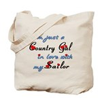 Country Gal Sailor Love Tote Bag