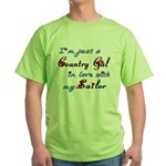 Country Gal Sailor Love Green T-Shirt