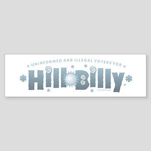 Hill-Billy Bumper Sticker