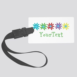 Personalize Flowers Luggage Tag