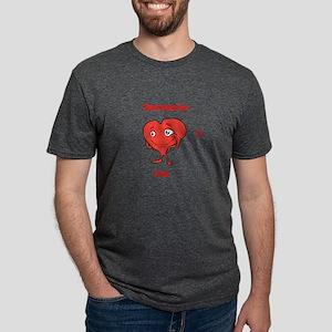 Cute Heart shirt Someone hearts me Mens Tri-blend