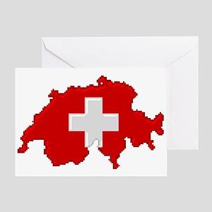 """""""Pixel Switzerland"""" Greeting Card"""