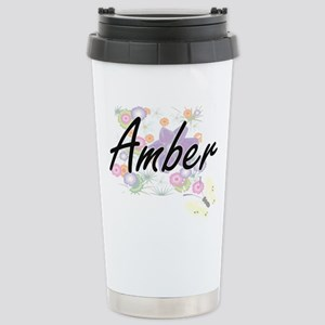 Amber Artistic Name Des Stainless Steel Travel Mug