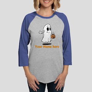 Personalized Halloween Womens Baseball Tee
