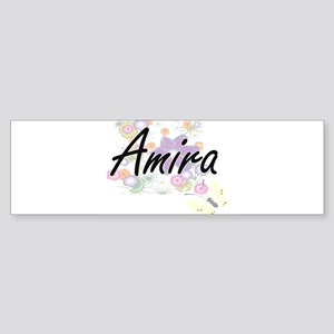 Amira Artistic Name Design with Flo Bumper Sticker