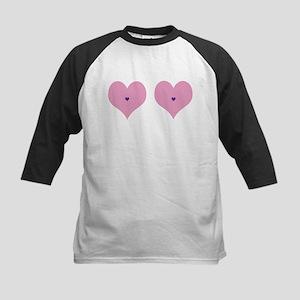 Funny Valentine Boob Shirt Kids Baseball Tee