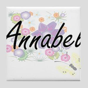 Annabel Artistic Name Design with Flo Tile Coaster