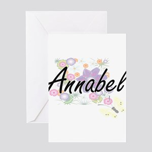 Annabel Artistic Name Design with F Greeting Cards