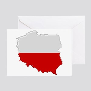 """Pixel Poland"" Greeting Card"