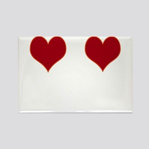 Heart boobs Rectangle Magnet
