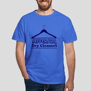 Jefferson Cleaners Blue Logo Dark T-Shirt