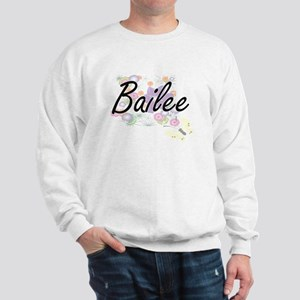 Bailee Artistic Name Design with Flower Sweatshirt