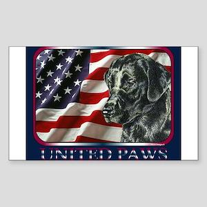 Labrador Retriever Patriotic US Flag Sticker