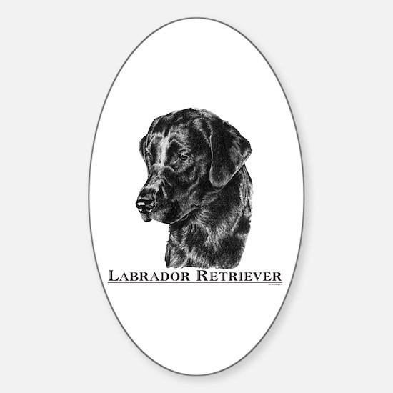 Labrador Retriever Dog Breed Oval Decal