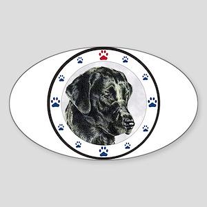 Labrador Retriever Dog Paws Oval Sticker
