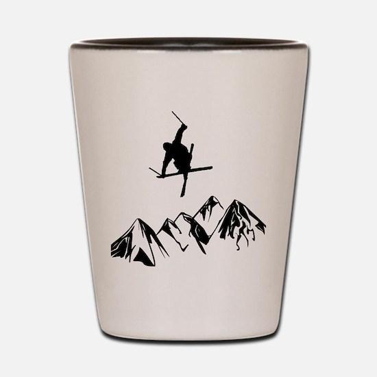 Unique Mountains Shot Glass